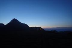 Hütte am Morgen